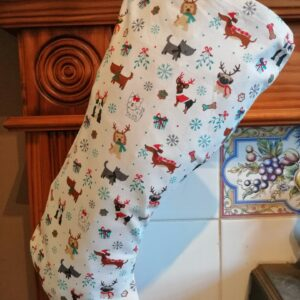 Christmas Stocking - Mixed dogs white