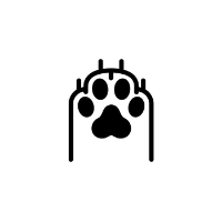 Friends and canines paw icon