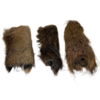 Hairy Venison Skin Pieces from Friends and Canines